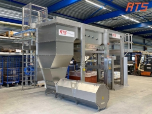 Bag emptying machine in stainless steel 02